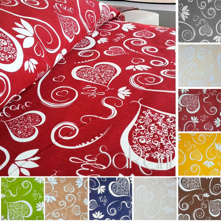 Copriletto Cuori Cotone Royal House Gran Foulard Vari colori 1 - 2 Piazze SARANI