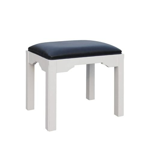 Ascot White Dressing Table Stool (J865) with Free Delivery | The Cotswold Company