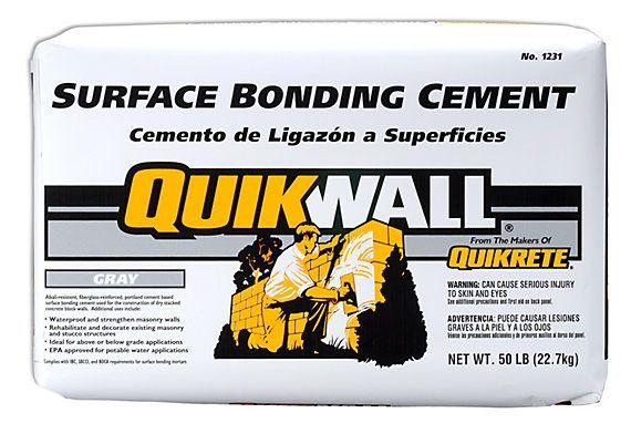 Quikrete Quikwall Surface Bonding Cement 22 7kg The Home Depot