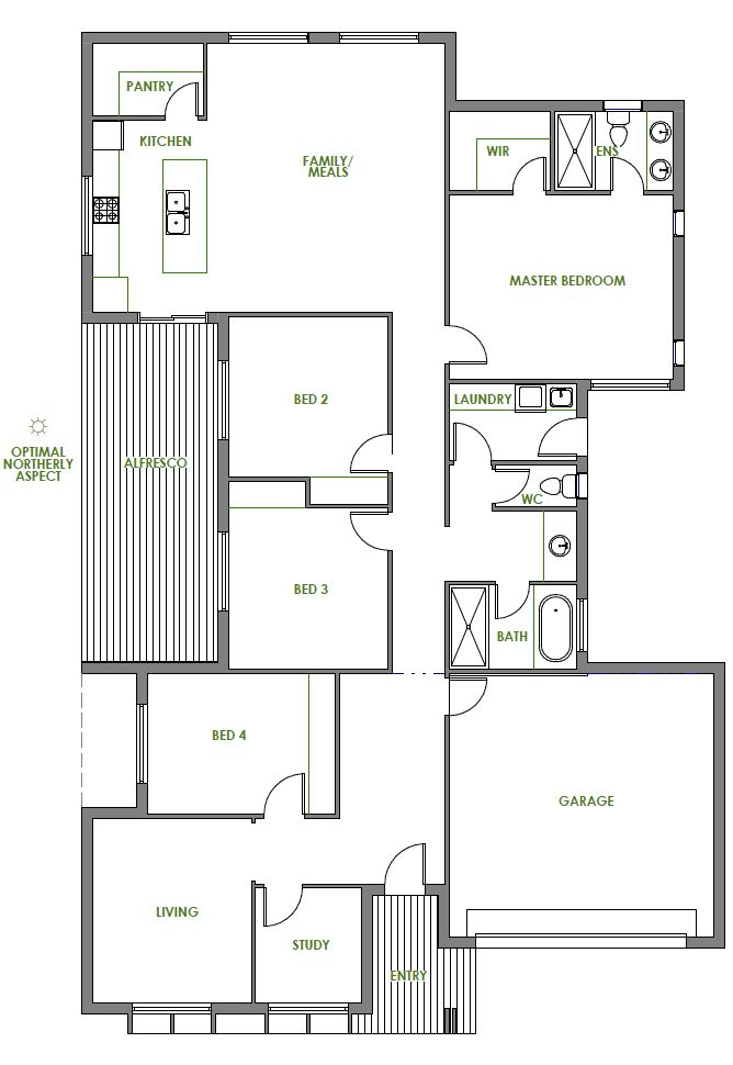448 best floor plans single images on pinterest house for Sustainable home floor plans