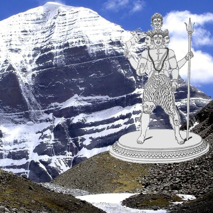 Shiva is the primordial deity who evolved to combine the traits of the terrible Aryan god Rudra and the more genteel Pashupati of the Harappans. This is a depiction of Rudra on the backdrop of his traditional abode, Mount Kailash. (Image credit Bhatta Som)
