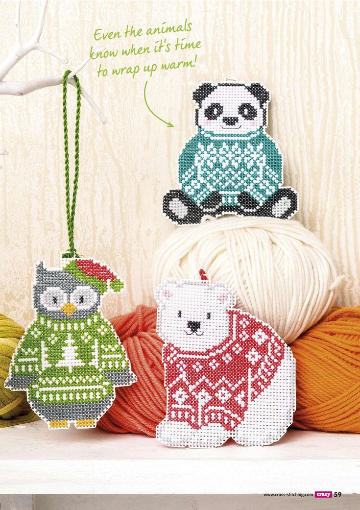 Cozy Critters Cozy Critters From Cross Crazy N°222 Christmas Issue 2016 2 of 4