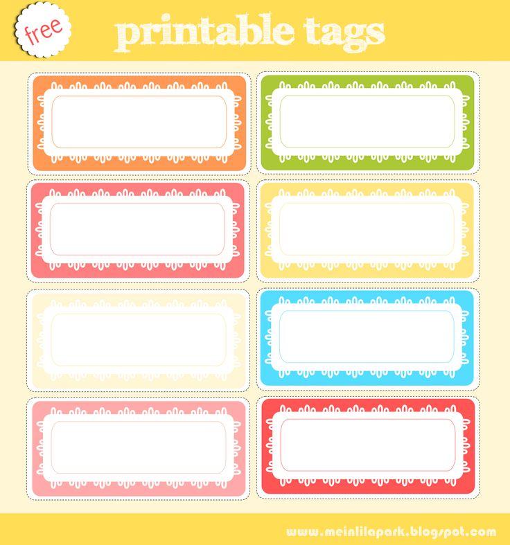 free printable tag collection