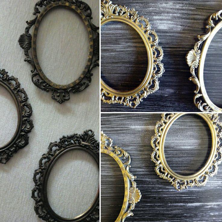 Limpieza pequeños marcos antiguos de metal!!  maderademindi.blogspot.com