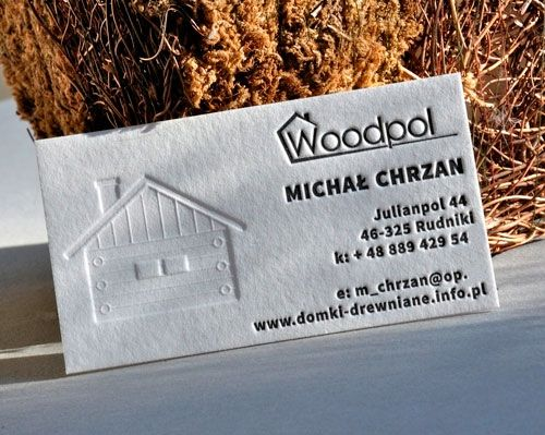 Creative business card for Woodpol