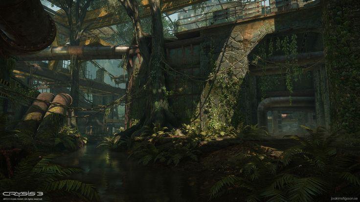 ArtStation - Crysis 3 MP - East River, Joakim Stigsson