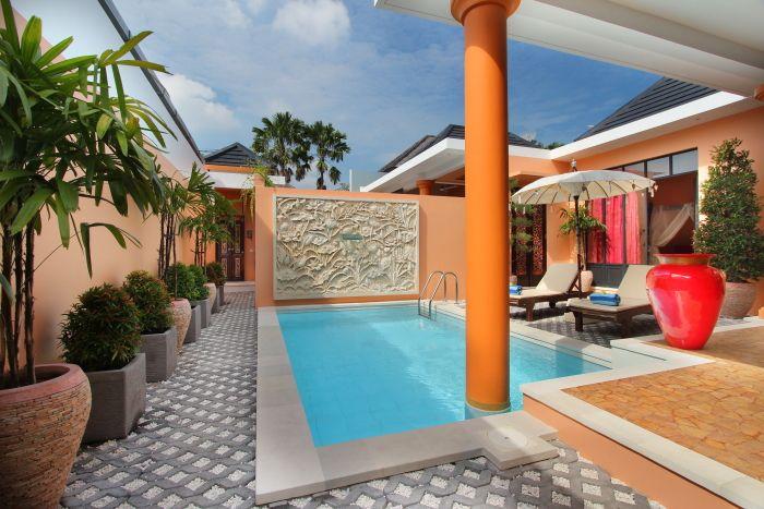 kolam renang villa modern minimalis