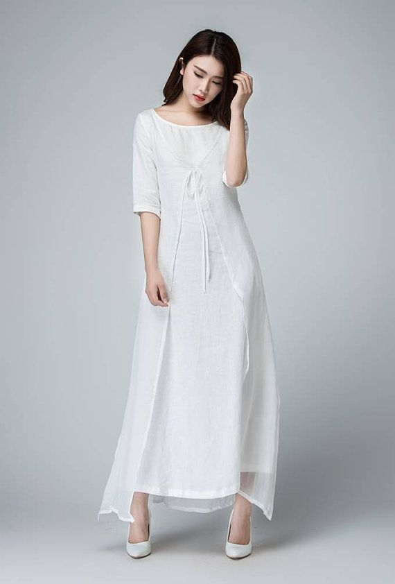 White linen dress.  It would be a nice Yom Kippur dress.  $129.00