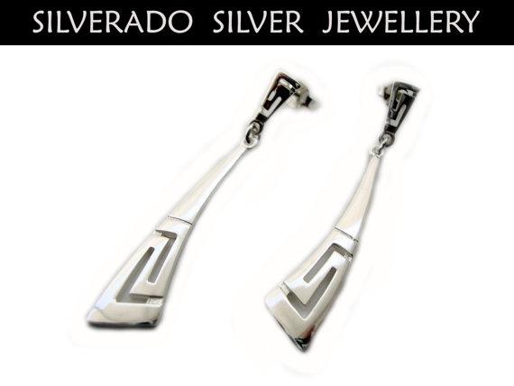 Greek Eternity Key Meander Sterling Silver by SilveradoJewellery, €13.50