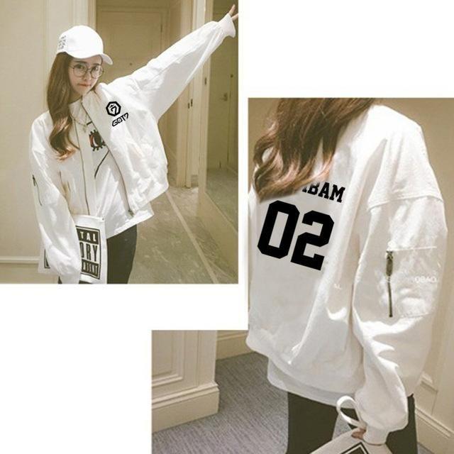 Kpop GOT7 Concert Album Unisex Jacket Casual Zipper Coat