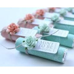 """""""Mint to be"""" wedding favours"""
