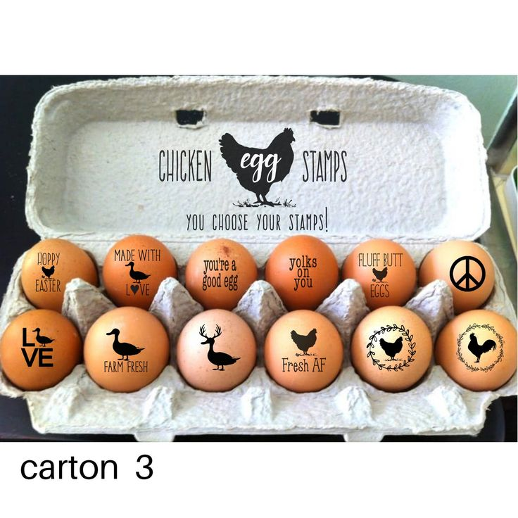 Custom egg stamps chicken lover gifts funny egg stamps