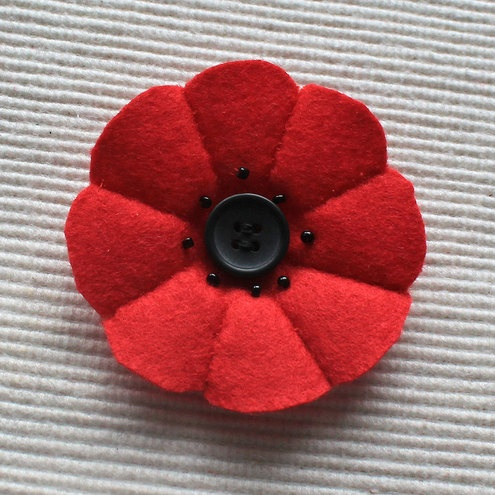 Felt poppy brooch - with poppy appeal donation