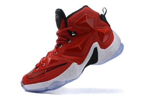 64d22e42e01878 Cheap Priced WMNS Nike LBJ 13 XIII University Red White Black Michael Jordan  Shoes