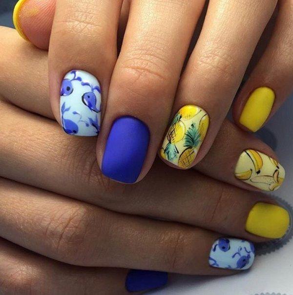 25+ Best Ideas About Neon Blue Nails On Pinterest