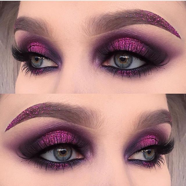 Flawless eyes by @helenesjostedt using #sugarpill Cold Chemistry palette and @urbandecaycosmetics Electric palette!