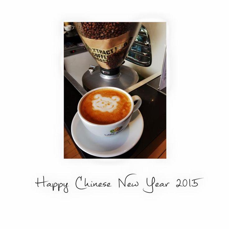 Chinese new year of the Goat/ sheep/ ram latte art.