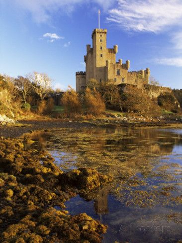 Dunvegan Castle of the Macleods of Skye, Isle of Skye, Highlands, Scotland, built in 1350