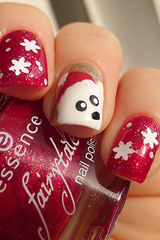 No peeking!!!! Mr Polar Bear is watching you 8) =D   Nagellack 2.0