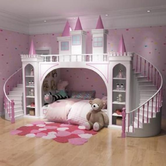 Made To Order Luxury Princess Palace Double Stairs Castle Bunk Bed