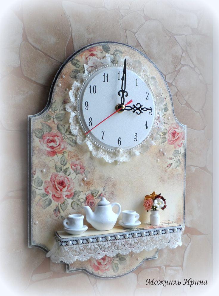 shabby chic idea - floreal clock