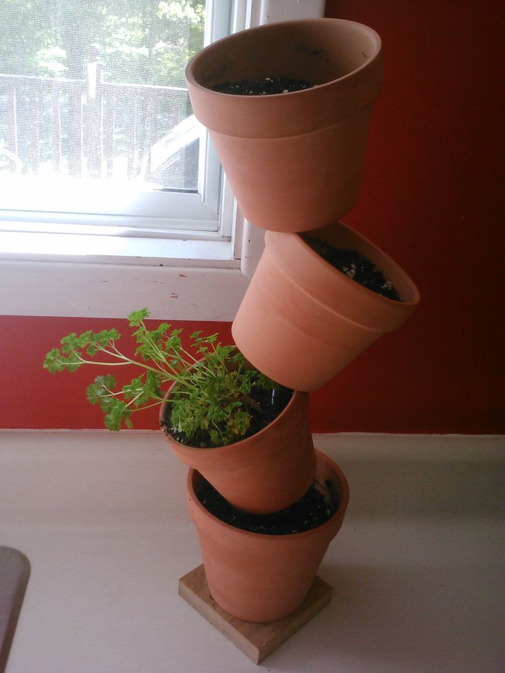DIY herb plant stand