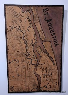 Foster Leathercraft: Maps, Giant Texas & St. Augustine