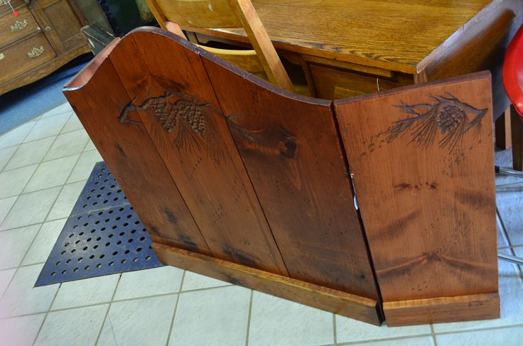 Hand Carved Fire Place Screen