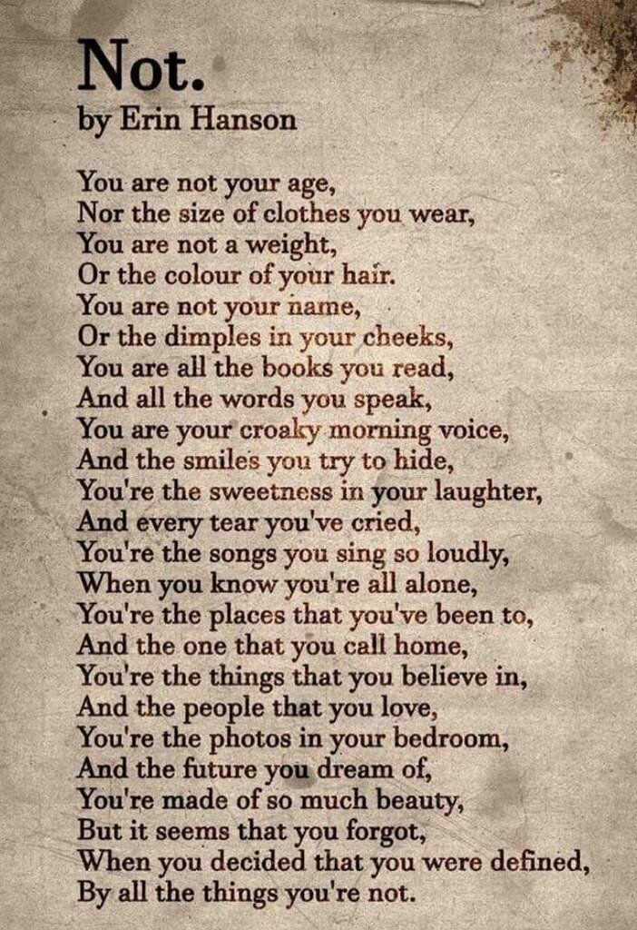 NOT by Erin Hanson.  A brilliant poem about self-awareness.