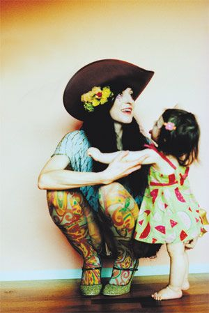 tattooed mommy!