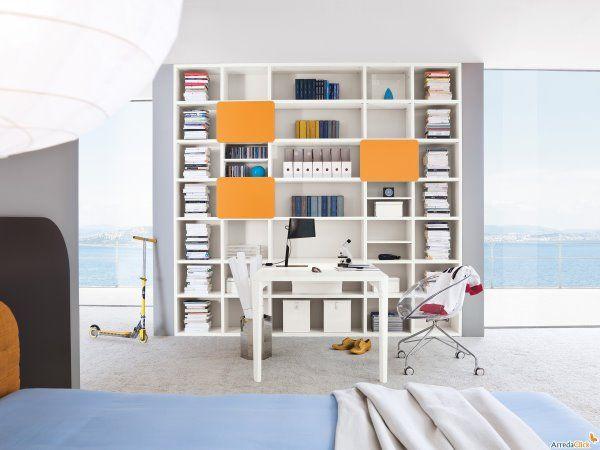Image result for libreria con scrivania perpendicolare ...