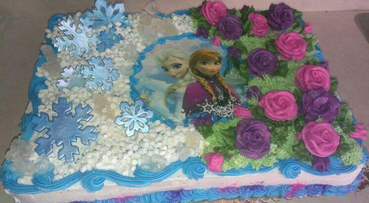 Frozen sheet cake