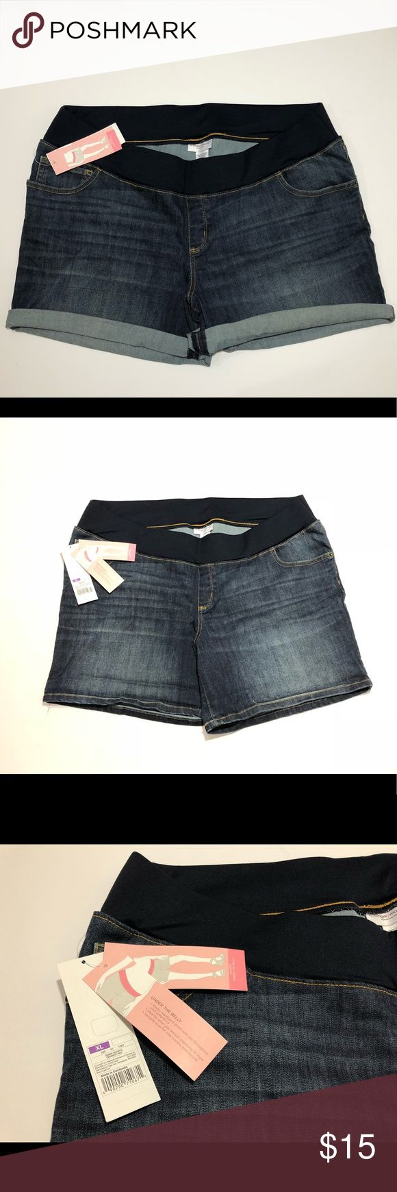Liz Lange Women Sz XL Denim Maternity Shorts New With Tags See Picture For Details. C97 Liz Lange for Target Shorts Jean Shorts