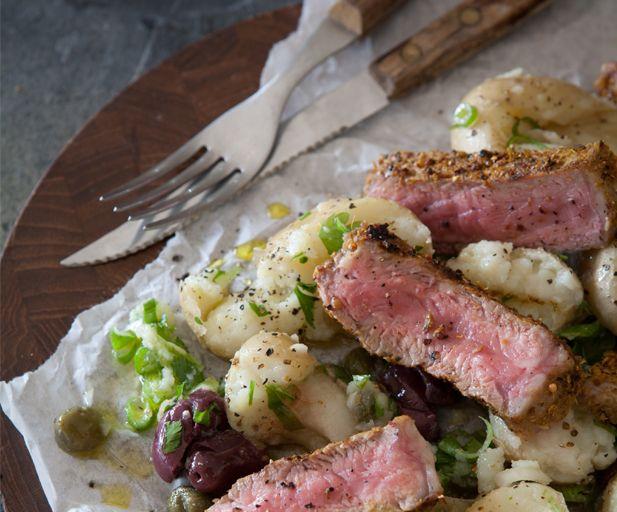 Bertus Basson's rubbed sirloin and potato salad