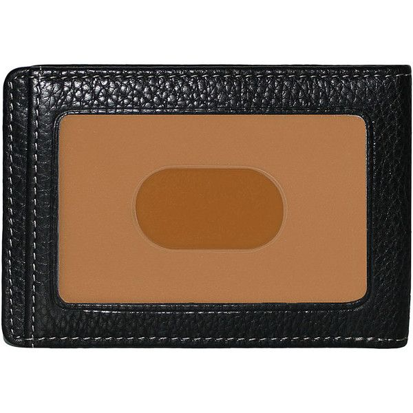 Boconi Tyler Tumbled Rs Rfid Two Fold Money Clip ($58) ❤ liked on Polyvore featuring men's fashion, men's accessories, men's money clips, black, mens wallets, mens leather accessories, mens leather money clip and mens money clip