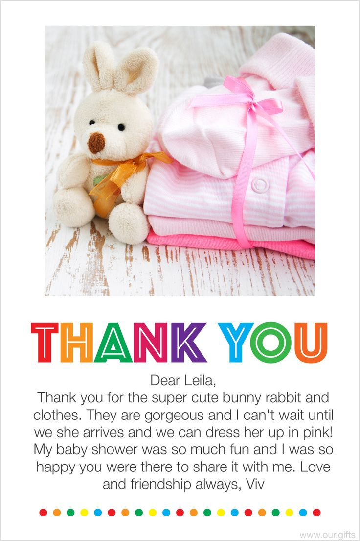 Did You Have A Great Baby Shower? Time To Write Thank You Cards? Download
