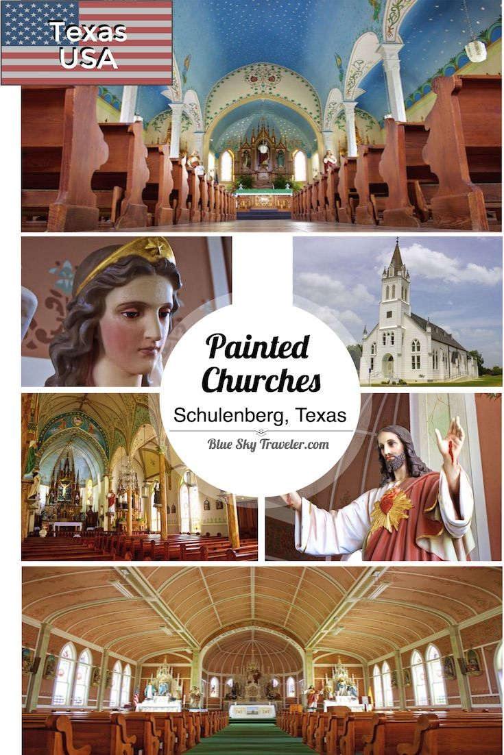 The Painted Churches of Texas are a sight to be seen. Go inside a plain white steepled church and you will find a European styled painted church of high gothic windows, tall spires, elaborately painted interiors with brilliant colors and friezes created by the German and Czech settlers in America.