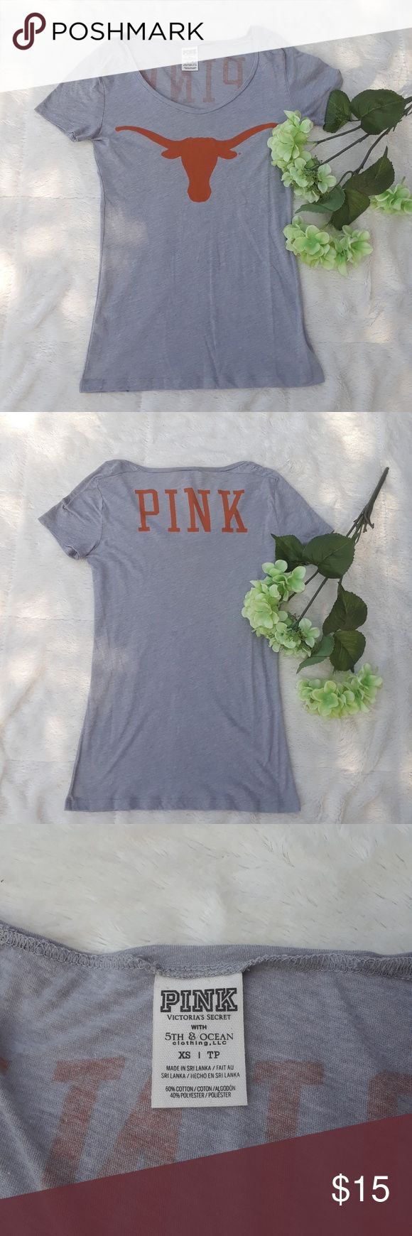 Victoria's Secret Pink UT Game Day Tee Get ready for game day in this Pink by Victoria's Secret Longhorn top. The school year is right around the corner, get your school pride on with this top. Size XS PINK Victoria's Secret Tops Tees - Short Sleeve