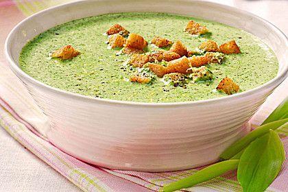 Bärlauch - Sahnesuppe mit Croutons 1