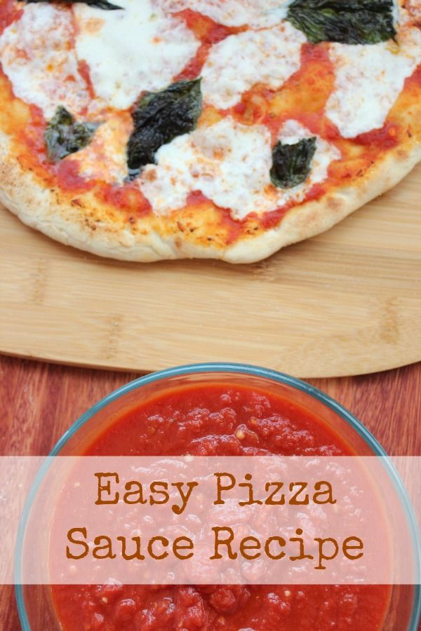 Easy Homemade Pizza Sauce | Recipe | Homemade, Pizza and The o'jays
