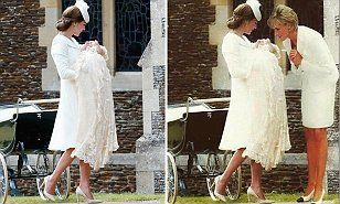 Photoshopped picture of Princess Diana with Kate Middleton at Princess Charlotte's christening | Daily Mail Online