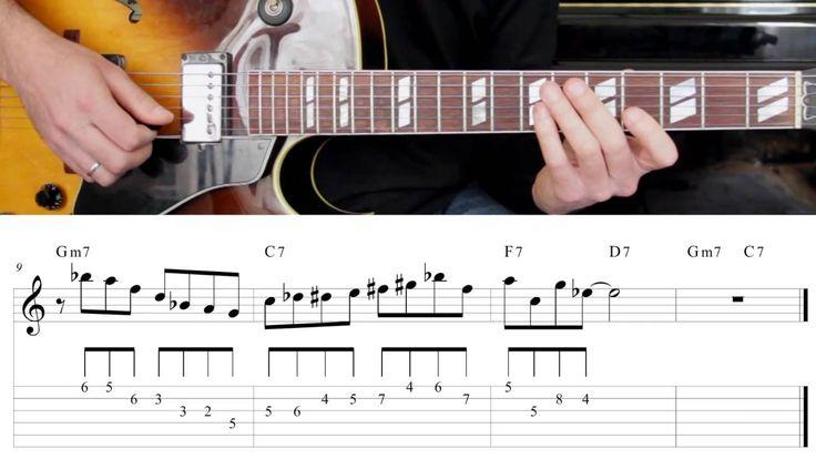 Jazz Guitar Lesson #31 - Progression #3 (Blues for Ali) - Improvisation #7