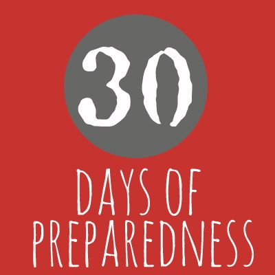 Ready, Set, Get Prepared! With the Preparedness Bloggers 30 Days of Preparedness. Day 1 is How To Organize Preparedness Information