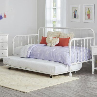 Little Seeds Monarch Hill Metal Twin Daybed with Trundle Finish: