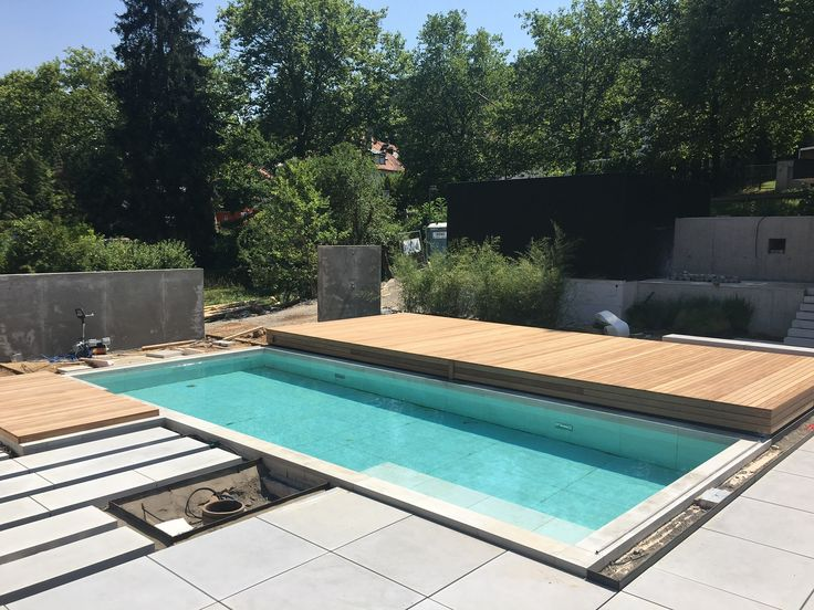 Pool cover walkable, small pool in the garden with …