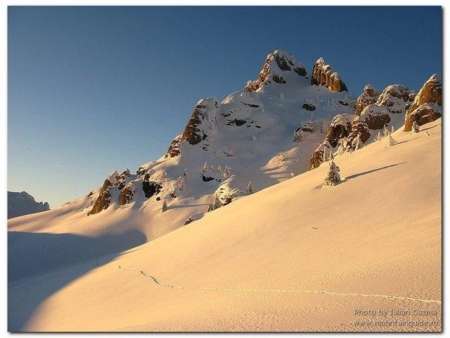 Bucegi Mountains - winter sunset