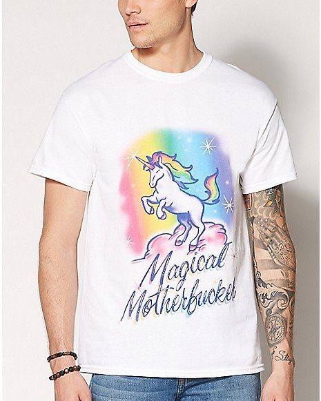 8562beac Magical Motherfucker Unicorn T Shirt - Spencer's | Stuff I would ...