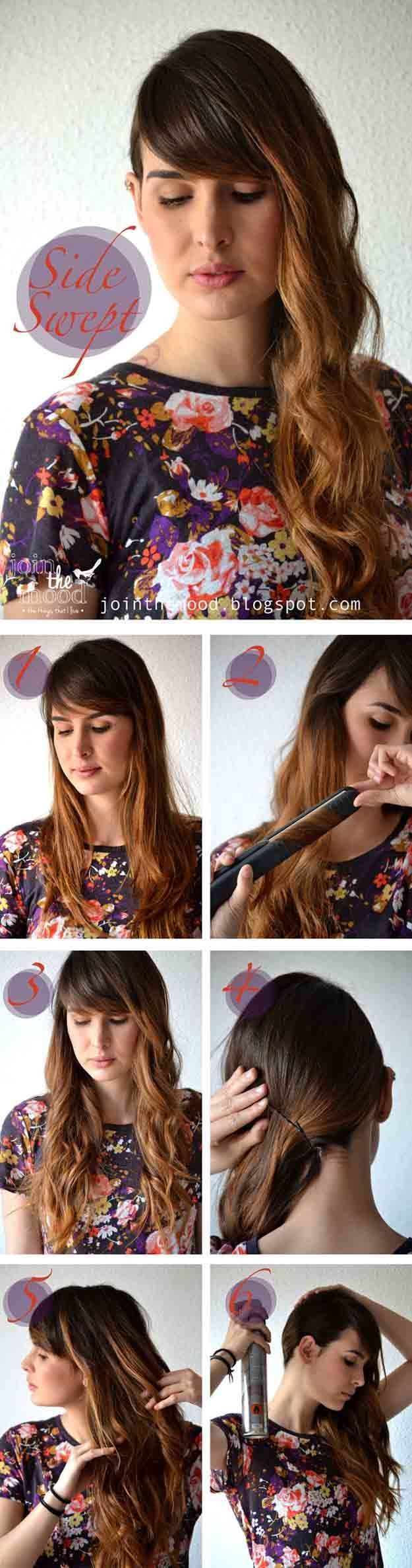 Fast and easy hairstyles for smooth hair swept sideways Popular haircuts and … #beloved #simple #dresses # swept #smooth #fast #fatly – #popular #simple #corsals #for # swept #smooth #hair #haircuts #fast #sided #and