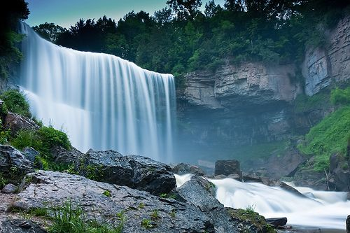 Webster's Falls is one of the talking beauty of nature.