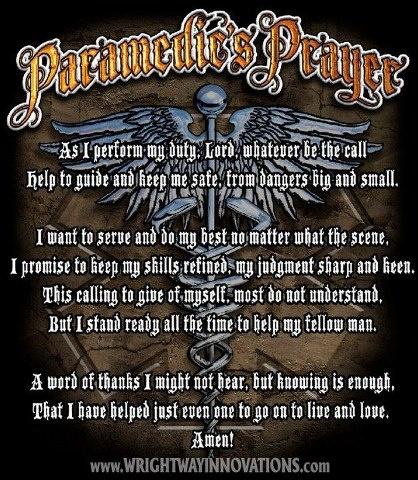 Paramedic's Prayer | Tattoos. | Pinterest | Paramedics and ...